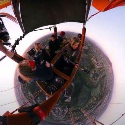 Banda faz show voando em balão e transmite em live; assista