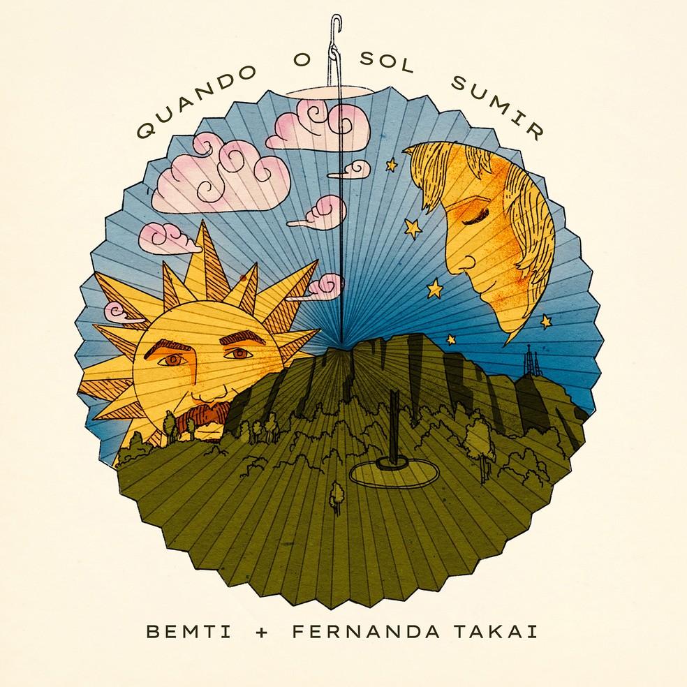 Capa do single 'Quando o sol sumir', de Bemti com Fernanda Takai — Foto: Divulgação